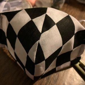 Checkered non medical face mask